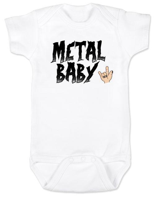 Metal Baby Onesie, Badass baby shower gift, Punk Rock Baby, Heavy Metal Baby personalized onsie