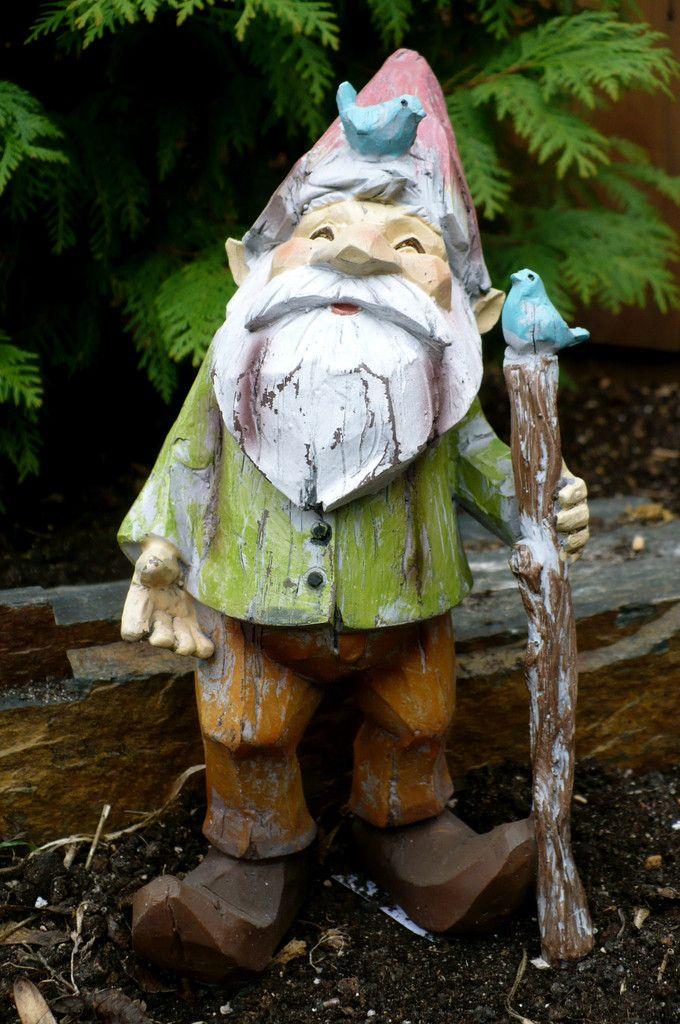 9 Woodland Garden Gnome With Walking Stick