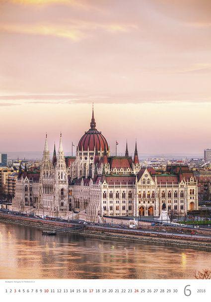Budapest, Hungary. Kalendář EVROPA 2018.