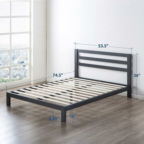 Ivy Bronx Harriett Heavy Duty Metal Platform Bed Frame Reviews Wayfair Metal Platform Bed Bed Frame Sizes Headboards For Beds