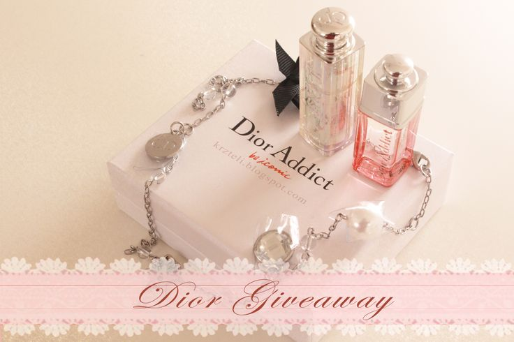 Enter to Win Dior Addict Be Iconic Lipstick, Perfume, and charm bracelet! Go to www.krzteli.blogspot.com to win!