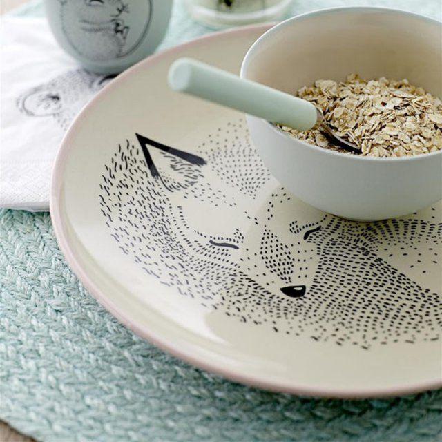Une assiette renard