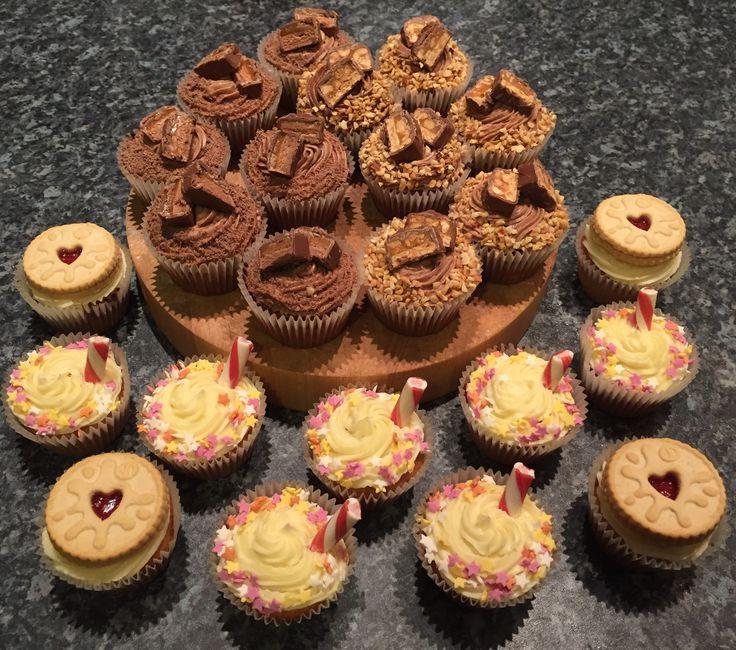 CK! Jammie dodger cupcakes, snickers cupcakes, mars bar cupcakes, sundae cupcakes.