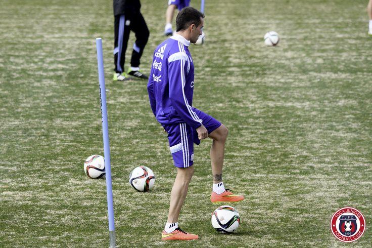 Federico Mancuello  Second @Argentina training session @georgetownhoyas #TOCA #PLAYsimple #GiraPorEEUU @Independiente