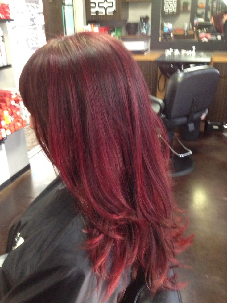 Larissas Magenta Berry Hair Color Using Schwarzkopf Color