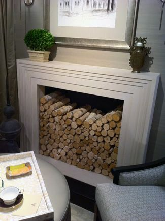 Styling a non-functional fireplace
