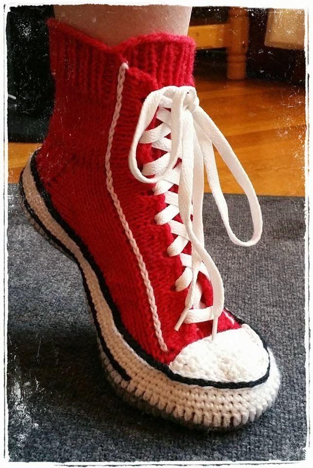 Converse slippers!! Hobby Kroken: Socks / Lester