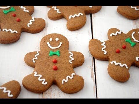 Omini di pan di zenzero,Biscotti di Natale FACILI E VELOCI - YouTube