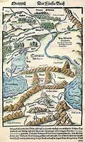 "Tartaria & Asistic Sarmatia  Title: Tartaria & Asistic Sarmatia Date: dated 1544-45 From ""Cosmographia"", printed in Basle Author: Sebastian Münster (1489-1552)  Click on image to enlarge Click on image to enlarge"