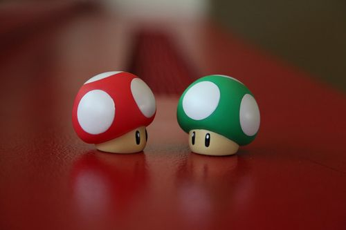 Red and green Mushroom