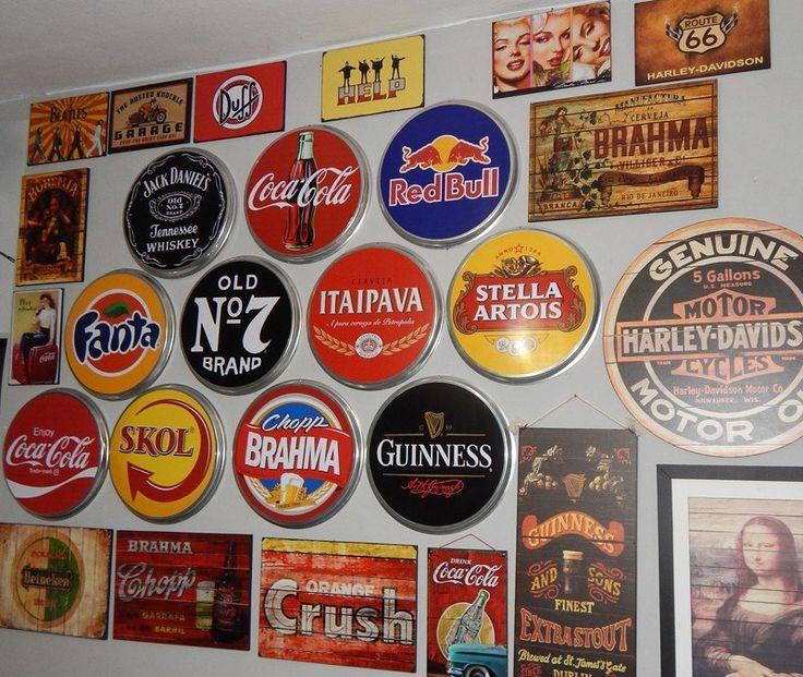 Placas De Metal Redondas Decora 231 227 O Cozinha Restaurante Bar