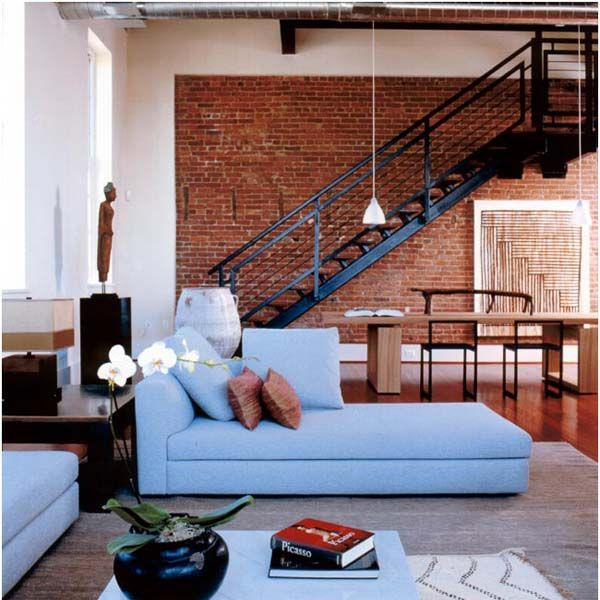 Steel Stairs And Exposed Brick Wall Part 76