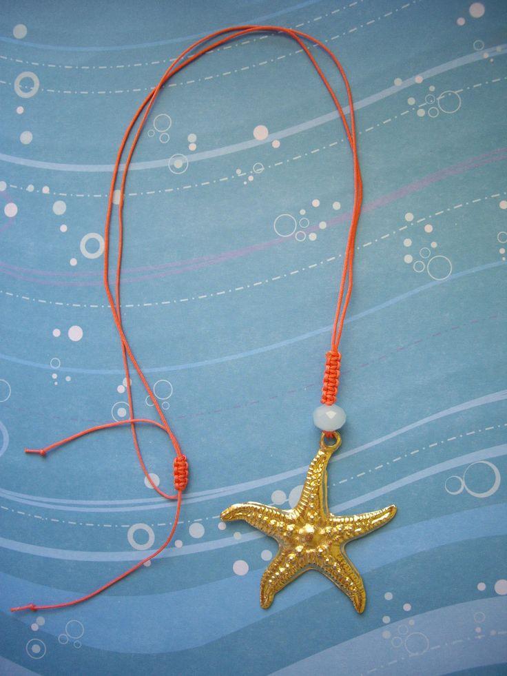 Μακρύ κρεμαστό με αστερία. Κωδικός: 11066/1 #jewelleryfromourheart #jewellery #thessaloniki #accessories #pendant #charm #starfish #new #summer #ss2016