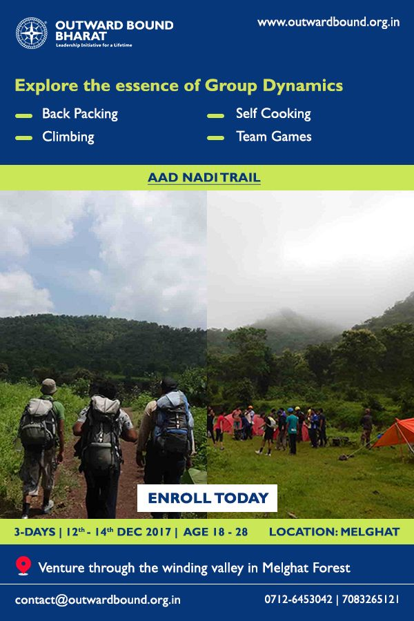 Explore the essence of Group_Dynamics at #Aad_Nadi_Trail located at #Melghat_Forest. Explore #Leadership_Skills - #Personal_Development - #Life_Skills. #Experiential_Expeditionary_Learning. Contact Us to Enroll Today: 0712-6453042   7083265121