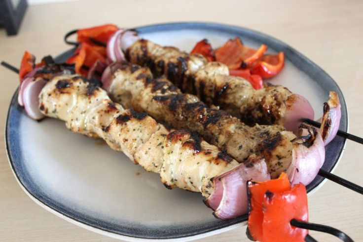 Chicken Souvlaki with Homemade Tzatziki: HealthyforTwo