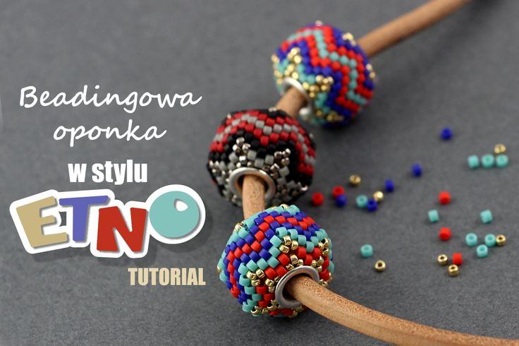 Beadingowa oponka w stylu etno – tutorial