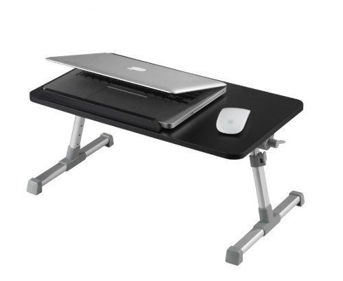 Portable Adjustable Wooden Laptop Desk Notebook Computer Stand Built In Cooling #WoneNice