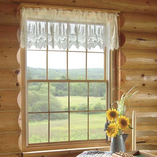 Pinecone Valance Heritage Lace Lodge Collection
