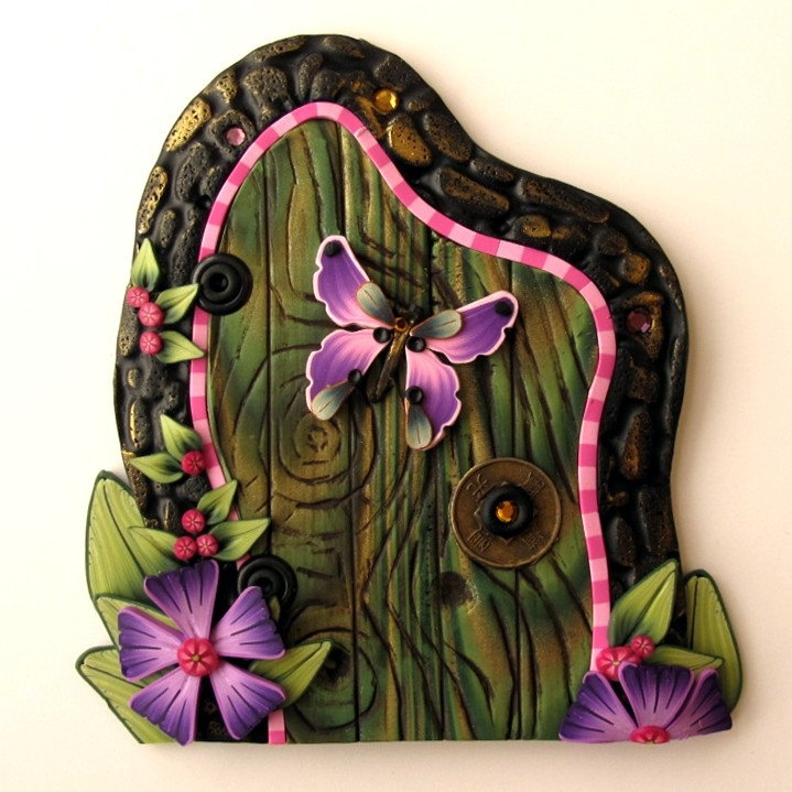 Butterfly Fairy Door  Clay by Kim