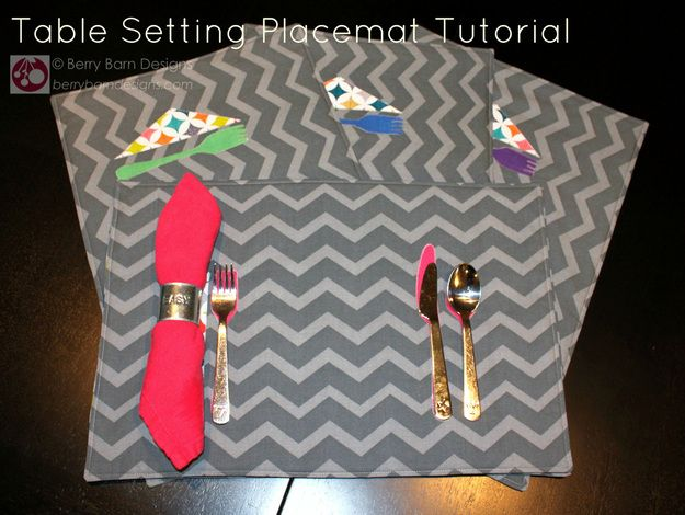 Table Clothing Design Tutorial Table Setting Placemat