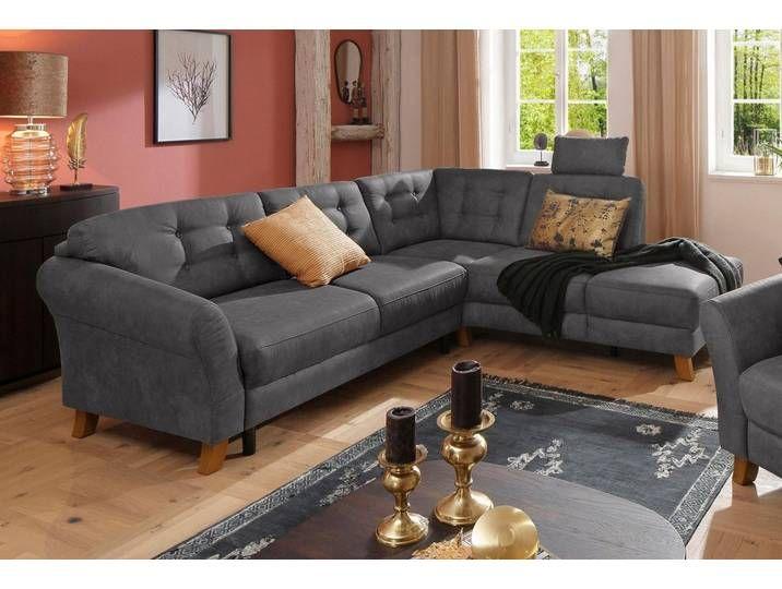 Home Affaire Ecksofa Trondheim Mit Federkern Grau Mit Bettfunktio Furniture Home Decor Couch