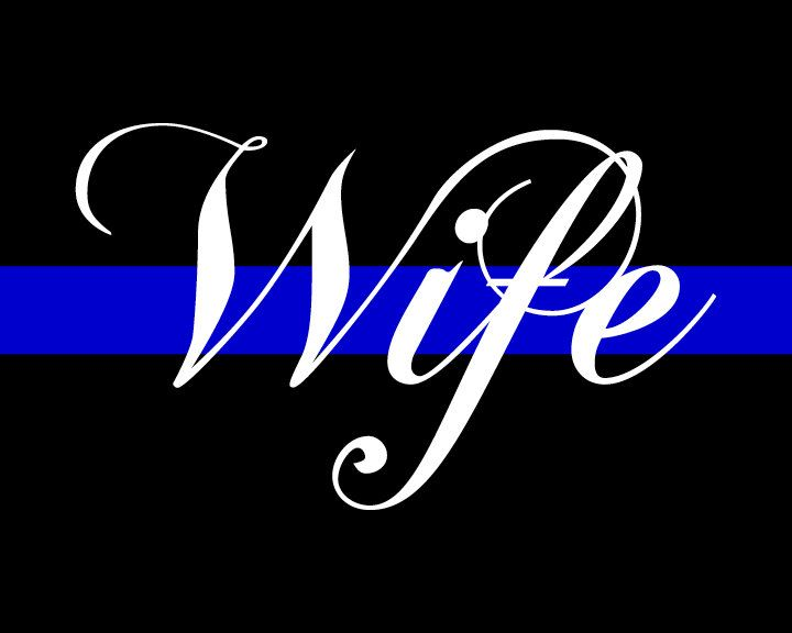 Thin Blue Line WIFE Printable, Police Officer Gift, Law Enforcement Wife, Home Decor Instant Download by EllieMarieDesigns on Etsy