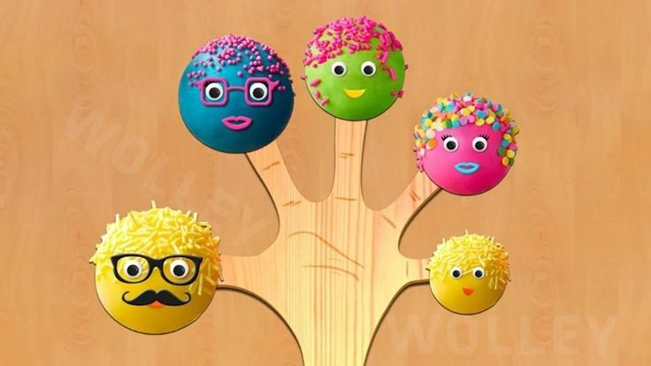 Cake Pop Finger Family with Surprise eggs - Nursery Rhymes & Songs For Kids
