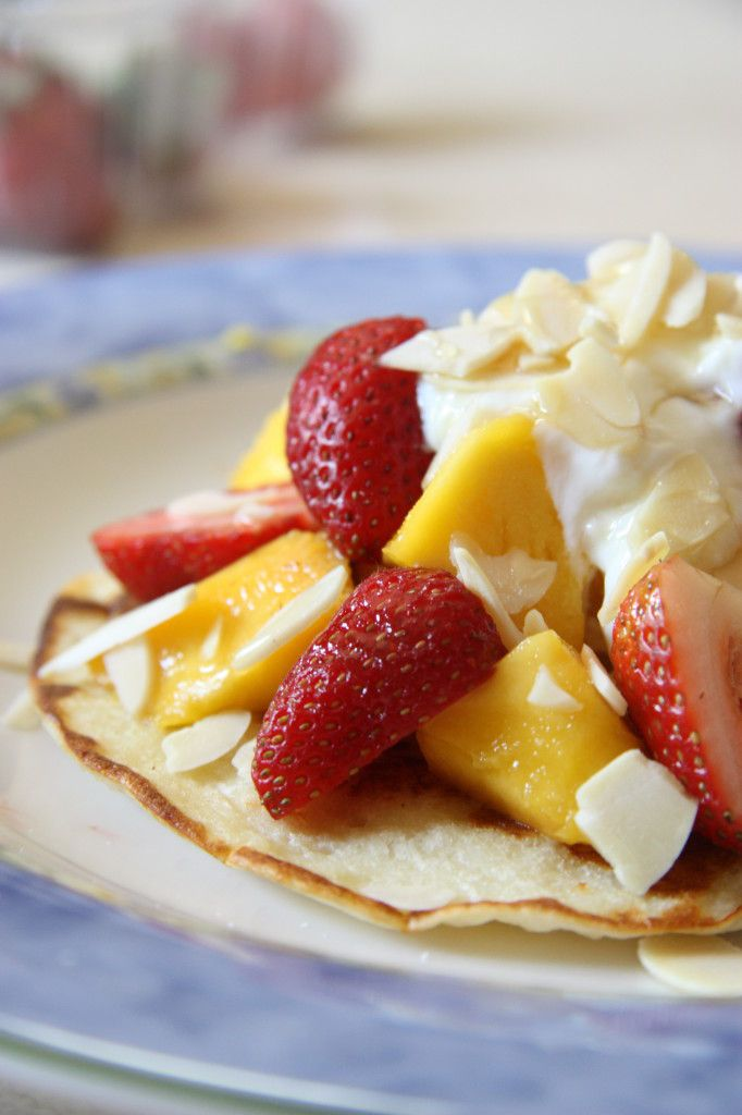 Gluten Free Coconut Pancakes Recipe. Quick, easy, pretty and most importantly... Delicious! Cook your Valentine something special <3