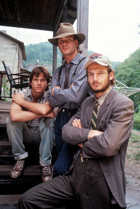 Still of Bill Paxton, Liam Neeson and Patrick Swayze in Next of Kin (1989)
