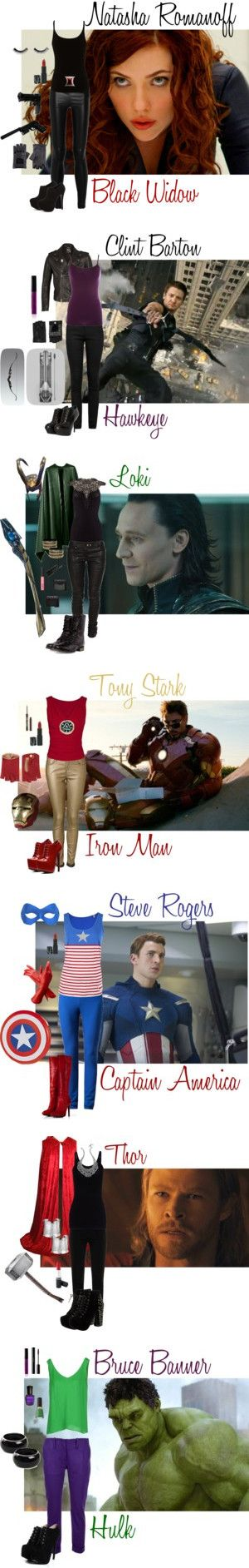 """Marvel's The Avengers Inspired Costumes"" by violet1998 on Polyvore"