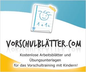 Blätter für die Vorschule - Worksheets for preschoolers