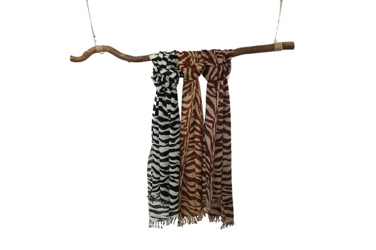 Safari Chique Handprinted scarves CléMarie 2014