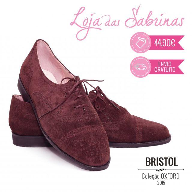 Mais uma novidade da Loja das Sabrinas! O novo modelo Bristol foi inspirado numa das cidades mais populosas de Inglaterra. Deixe que a sua tonalidade bordô inspire os seus dias mais frios: http://www.lojadassabrinas.com/product/bristol