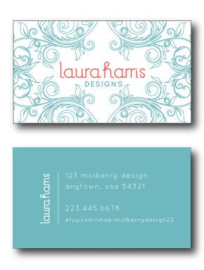 Premade Business Card Design - Customize to Include Your Contact Information