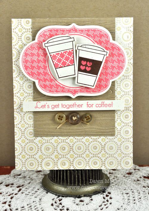 Anything with coffee, love it!: Cute Cards, Friends Cards, Stamps Sets, Papertrey Ink, Coffee Cups, Coffee Cards, Cards Coffee, Crafty Cards, Cards Papercraft