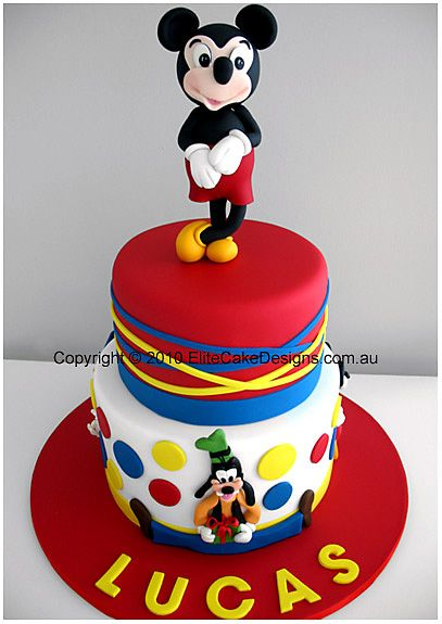 I love the use of colour in this one. Mickey mouse birthday cake - Elite