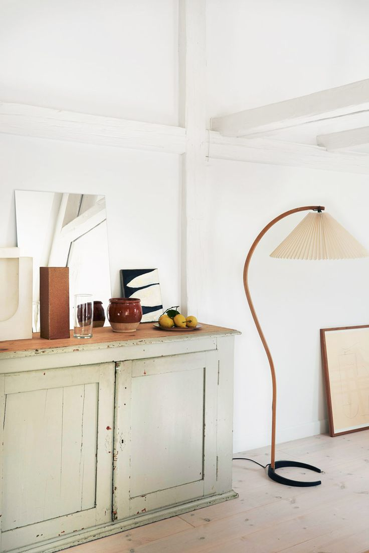 Beautiful modern floor lamp with fluted shade on Thou Swell @thouswellblog