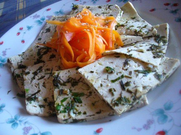 Tofu marinato al limone