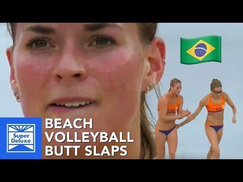 Beach Volleyball Butt Slaps - YouTube