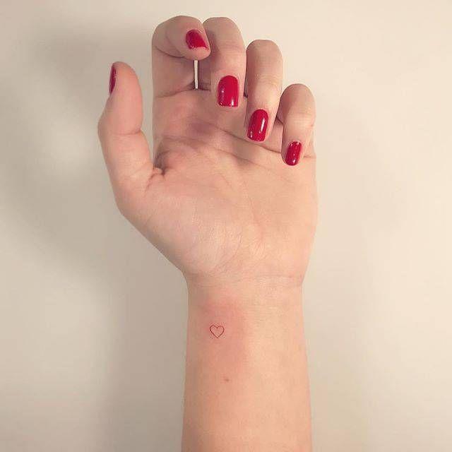 Small Heart Knuckle Finger Womans Tattoo Uncategorized Heart