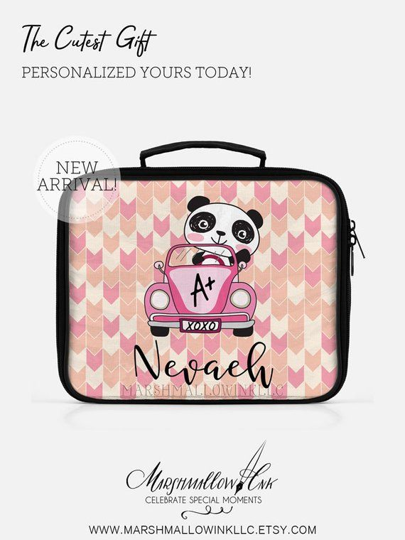 Personalized Insulated Lunch Bag, Cute Lunch Box for Girl