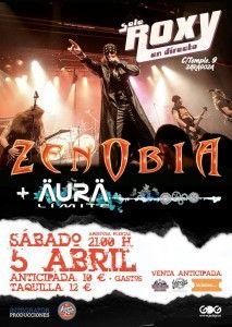 Crónica Zenobia + Äurä Límite: Sala Roxy (Zaragoza) 05/04/2014