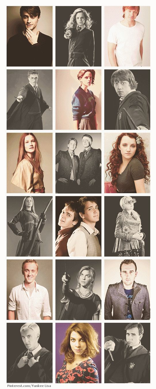 Harry Potter cast. I love them all!