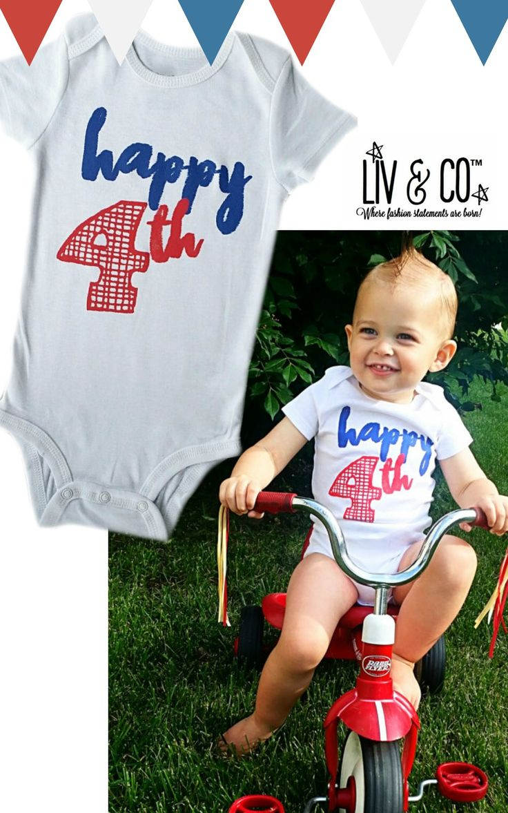 The cutest fourth of july outfit for baby! Fourth of july outfit, fourth of july baby, fourth of july onesie, 4th of july outfit, 4th of july baby, liv and co, liv and company