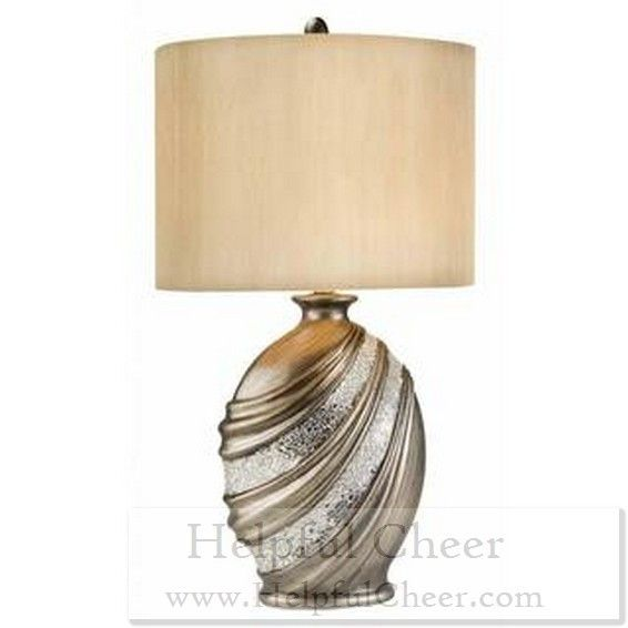 Silver decorative table lamp at 0153 your online home decor outlet stor