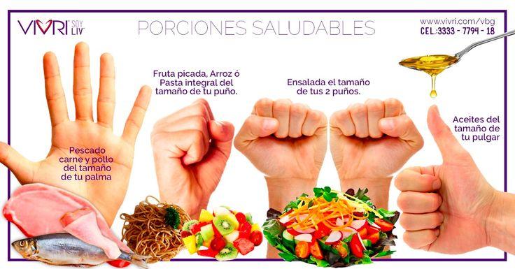 ¿No sabes a qué se refiere una porción saludable?  Puedes medirlas de acuerdo a tus manos  así serán de acuerdo a ti   vivri.com/vbg   #vivri #estilodevidavivri #vidasaludable #porciones #comesaludable #salud #nutricion nutricionmx