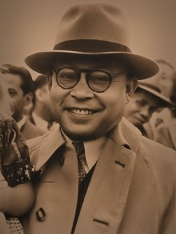 a photo of Bung Hatta, the 1st vice-president of Indonesia. Great mind with great taste!
