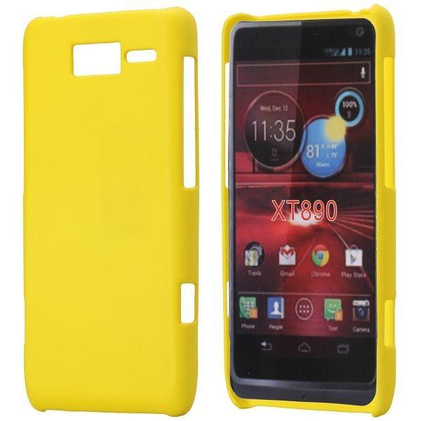 Hard Shell (Keltainen) Motorola RAZR i Suojakuori