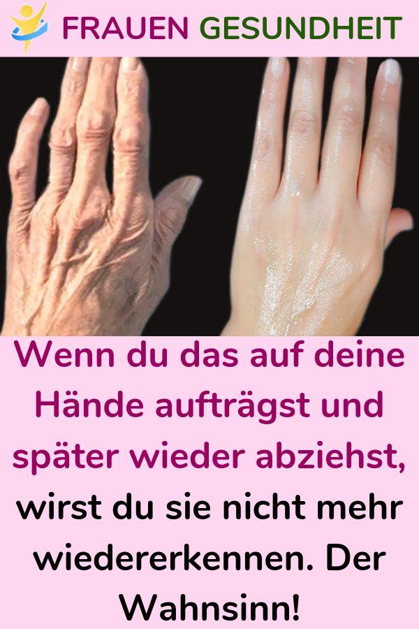Wenn du das auf deine Hände aufträgst und später wieder abziehst, wirst du sie nicht mehr wiedererke