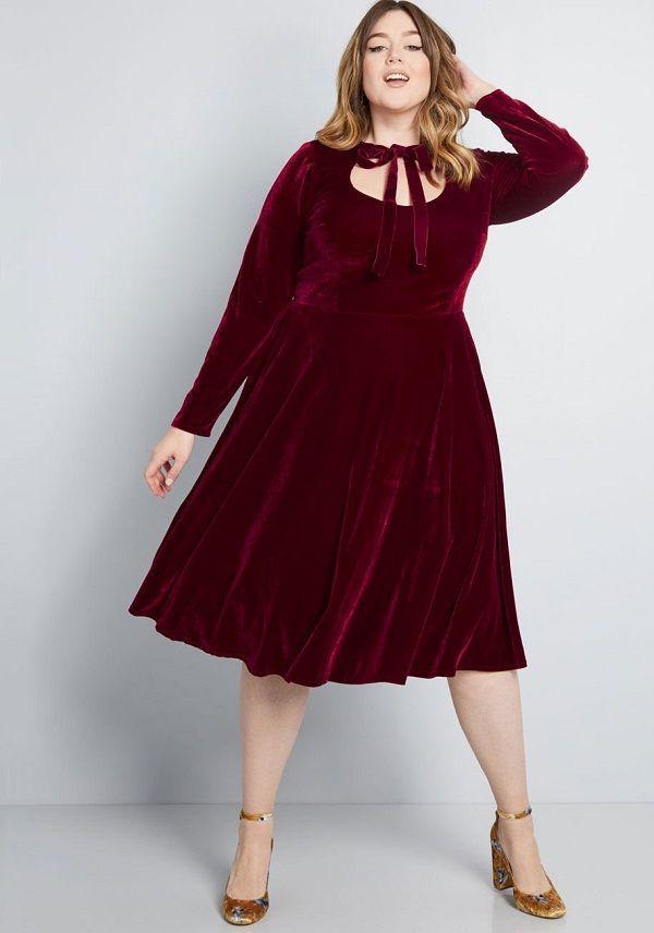 Plus Size Velvet Dresses Burgundy - Burgundy Velvet Dresses ...